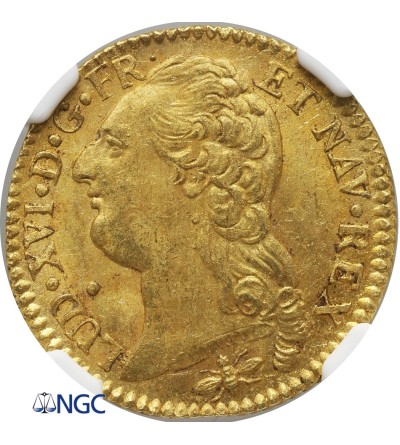 Francja 1 Louis d'or 1786 D, Lyon - NGC MS 62
