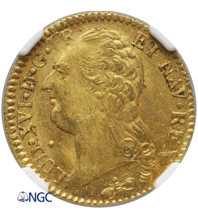 Francja 1 Louis d'or 1786 D, Lyon - NGC MS 63