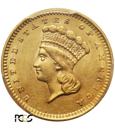 USA 1 dolar 1859, Indian Head - PCGS AU 58