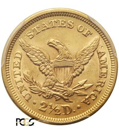 USA 2,5 dolara 1852, Coronet Head - PCGS AU 58