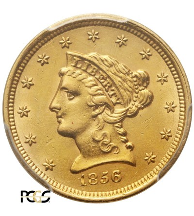 USA 2,5 dolara 1856, Coronet Head - PCGS AU 58