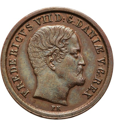 Denmark Rigsbankskilling 1853 FK/VS