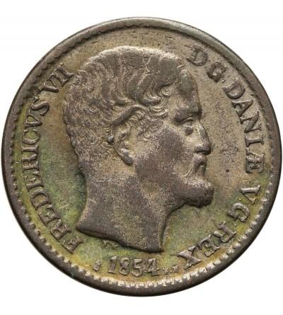 Denmark 4 Skilling 1854 FF