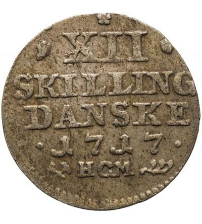 Norwegia 12 Skilling 1721, HCM Kongsberg