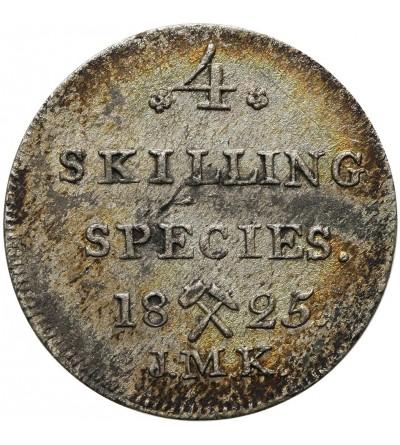 Norwegia 4 Skilling Species 1825 JMK