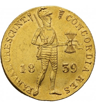Netherlands Kingdom. Ducat 1839, Utrecht Mint
