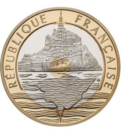 France 20 Francs 1992, The Mont Saint Michel - Gold/Silver Proof