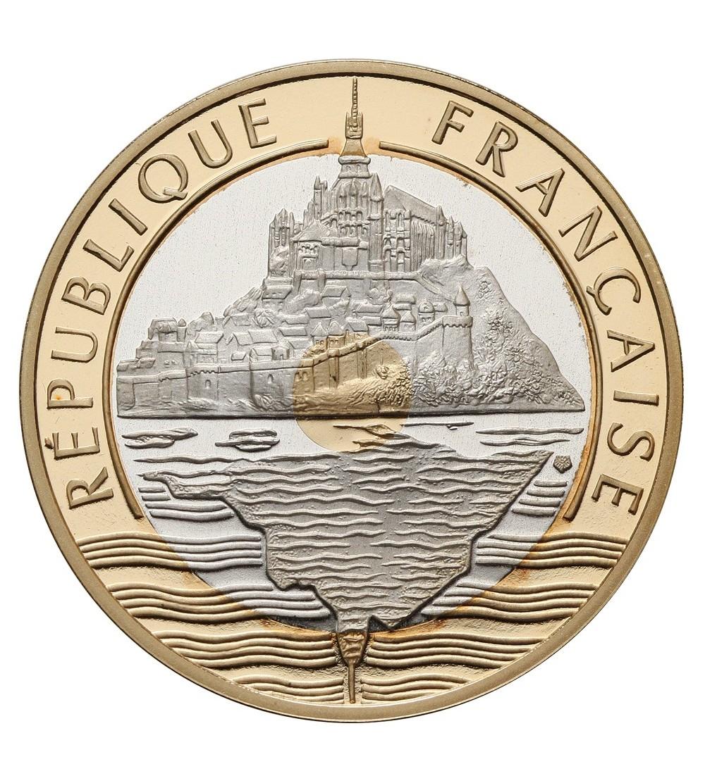 Francja 20 franków 1992,Saint Michel - Proof Au / Ag