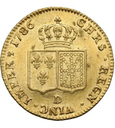 Francja 2 Louis d'or 1786 D, Lyon