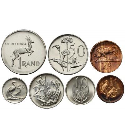 RPA rocznikowy zestaw monet 1980 - 7 sztuk SOUTH AFRICA