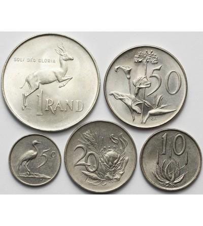 RPA rocznikowy zestaw monet 1965-1966 - 5 sztuk SUID AFRICA, KM