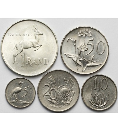 South Africa set coin 1965-66 - 5 Pcs SUID AFRIKA