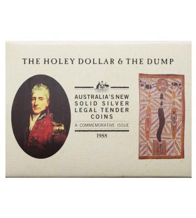 Australia 25 centów i dolar 1988, Holey dollar & the dump