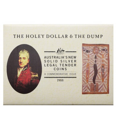 Australia 25 Cents & One Dollar 1988, Holey Dollar & the Dump