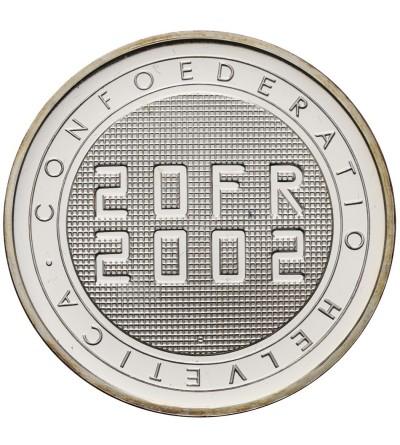 Szwajcaria 20 franków 2002, Expo 2002