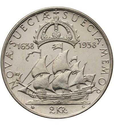 Szwecja 2 korony 1938 G