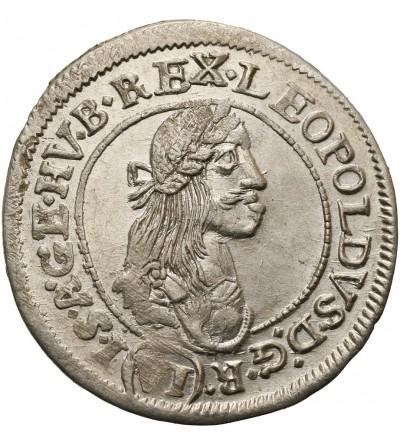 Austria. 6 Kreuzer 1673 KB, Kremnitz
