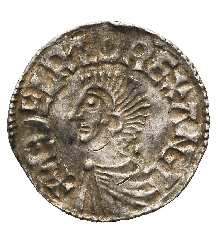 Anglia. Aethelred II 978-1016.  Denar typu long cross, ok 997-1003, mennica London