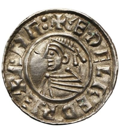 Anglia. Aethelred II 978-1016. Denar typu small cross, 1009-1017, mennica Lincoln