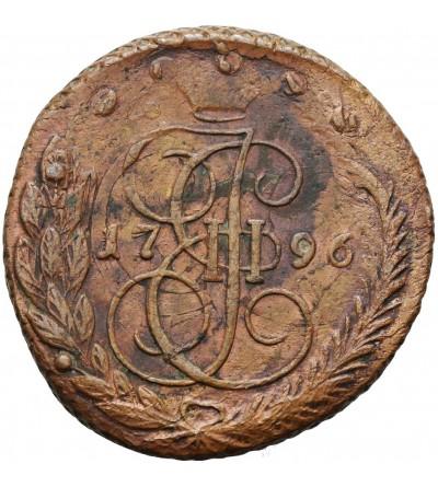 Rosja 5 kopiejek 1796 EM, Jekaterinburg - Pawłowski pereczekan