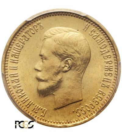 Rosja 10 rubli 1899 AG, St. Petersburg - PCGS MS 64