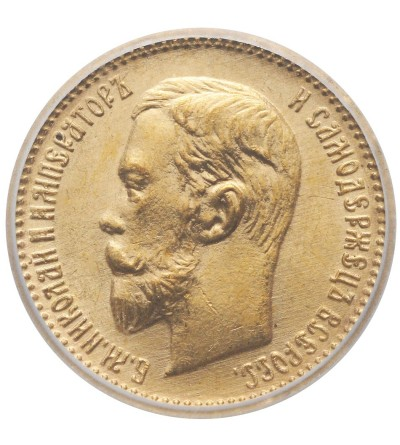 Rosja 5 rubli 1904 AP, Mikołaj II - ICG MS 66