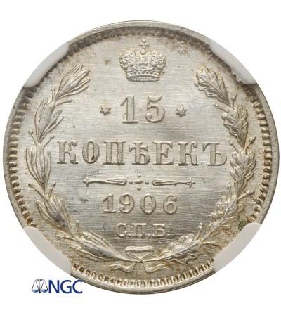 15 kopiejek 1906 - NGC MS66