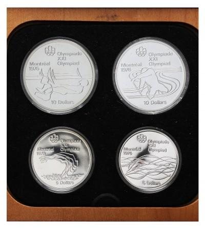 Kanada zestaw monet olimpijskich 5 i 10 dolarów 1975