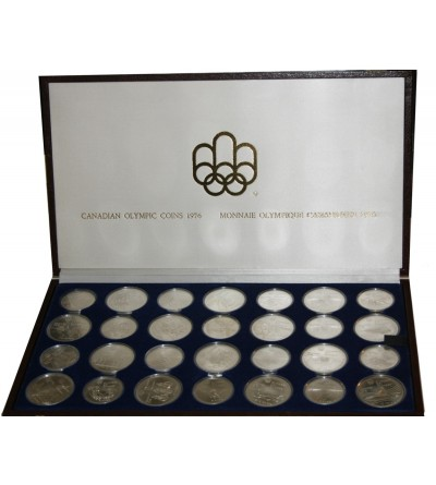 Kanada zestaw monet olimpijskich 1975, razem 28 sztuk