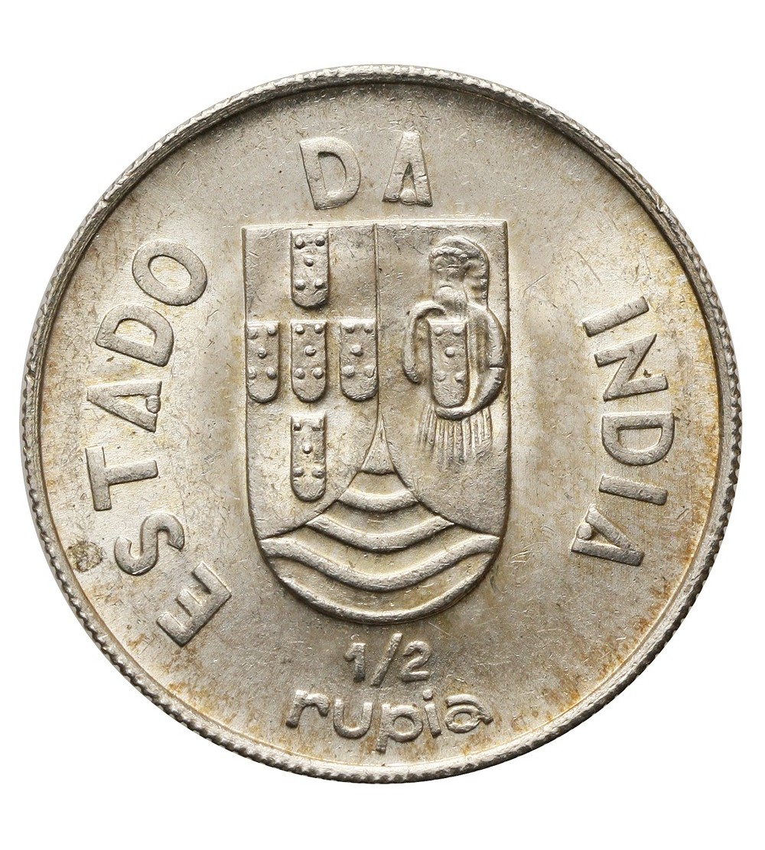 Indie Portugalskie 1/2 rupii 1936