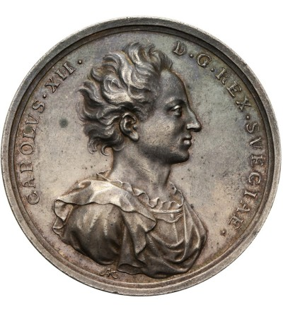 Sweden. Medal 1703 struck in memory of the capture and plundering of Toruń by the Swedish army