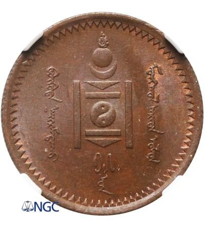 Mongolia 1 Mongo AH 15 / 1925 AD - NGC MS 64 BN