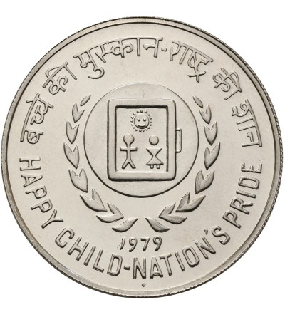 India Republic 50 Rupees 1979, Year of the Child