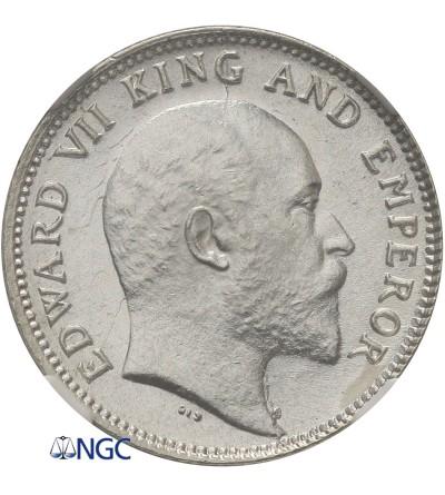 Indie Brytyjskie 1/4 rupii 1906 (C), Kalkuta, Edward VII - NGC MS 63+