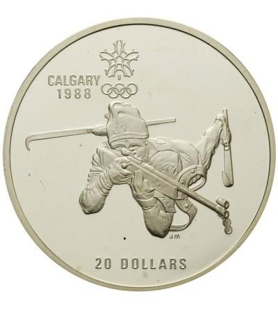 Kanada 20 dolarów 1986, Biathlon