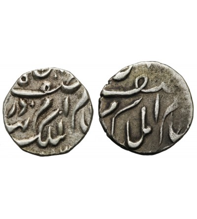 Indie - Hyderabad 1/8 rupia bez daty (AH 1286-1318) -  2 sztuki