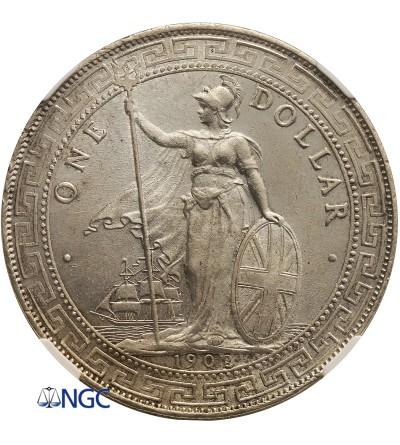 Wielka Brytania dolar handlowy 1902 B - NGC MS 64
