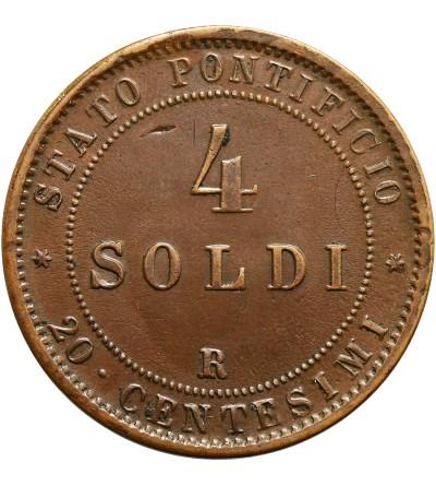 Watykan 4 Soldi 1869 R / AN XXIV, Pius IX