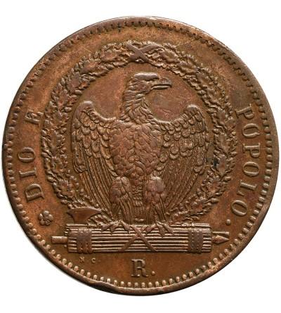 Włochy. Republika Rzymska 3 Baiocchi 1849