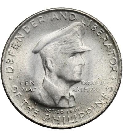Filipiny 50 Centavos 1947 S, gen Mac Arthur