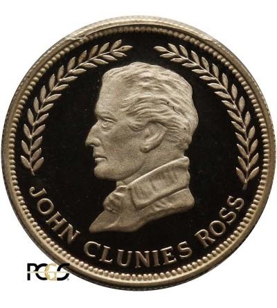 Keeling Cocos Islands 10 Rupees 1977, 150th Anniversary - John C. Ross - PCGS PR 67 DCAM