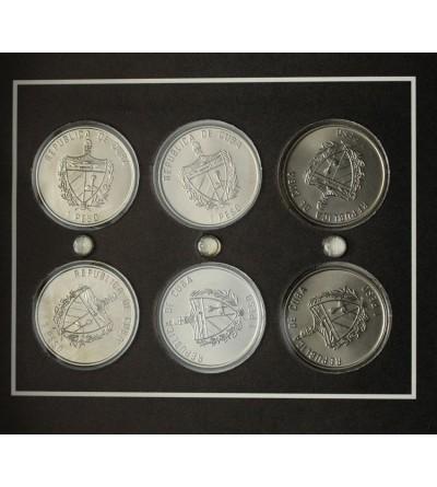 Kuba zestaw kolekcjonerski monet 1 peso 1996