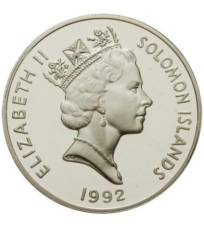 Wyspy Salomona 10 dolarów 1993, 40 rocz. koronacji królowej Elżbiety