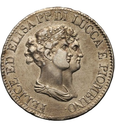 Włochy. Lucca 5 Franchi 1807