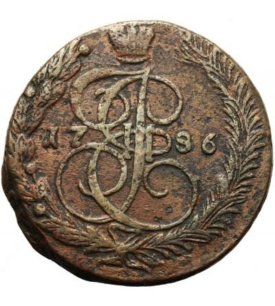 Rosja 5 kopiejek 1786 EM, Jekaterinburg