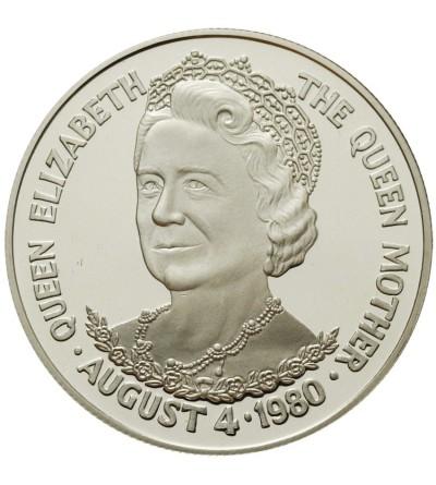 Tristan da Cunha 25 pensów 1980, 80 urodziny Królowej