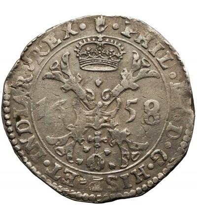 Niderlandy Hiszpańskie. Talar (Patagon) 1658, Brabant, mennica Antwerpia