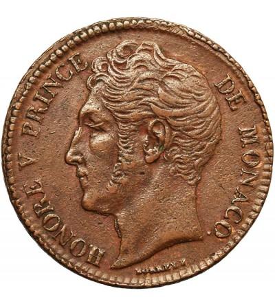 Monako 5 Centimes (Cinq) 1837 MC
