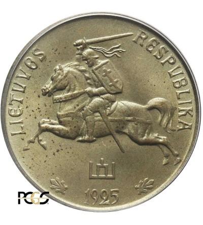 Litwa 5 centów 1925 - jednostronna próba technologiczna, PCGS SP 65