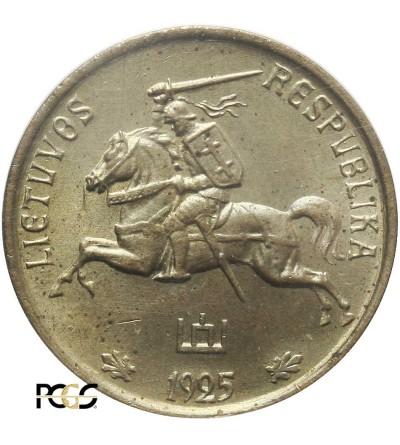 Litwa 1 cent 1925 - próba technologiczna, PCGS SP 65